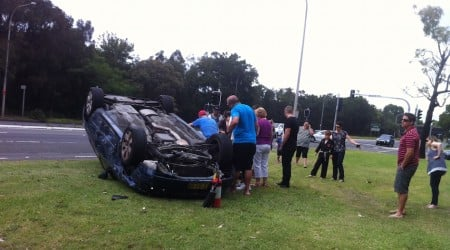 Two Vehicles Involved In Roll Over Crash In Wollongong Mirage News